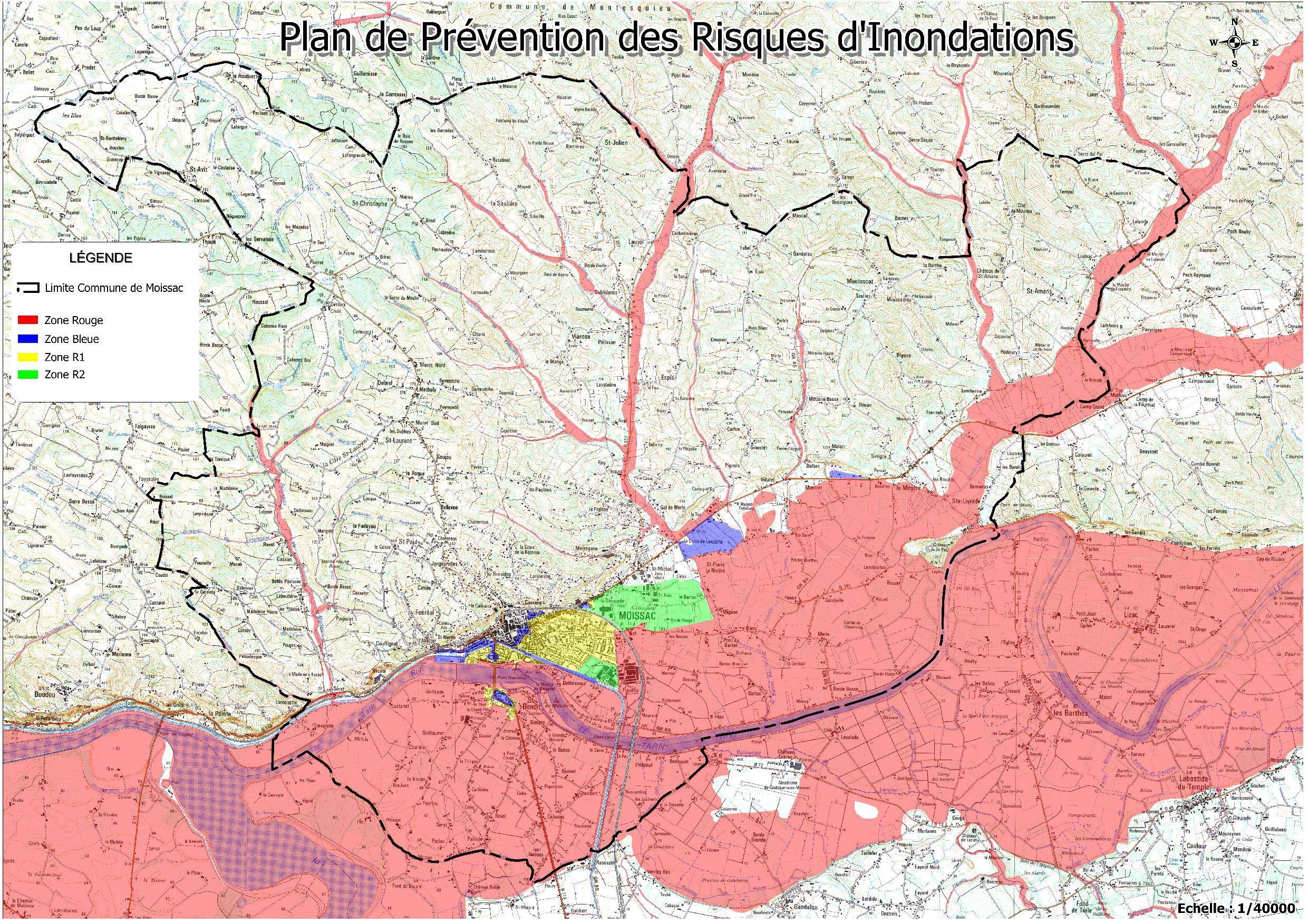 Plan de pr vention des risques d 39 inondation ville de moissac for Plan de prevention des risques entreprises exterieures