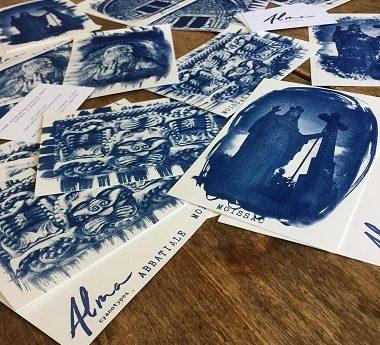 Échantillons de clichés cyanotypes de Moissac